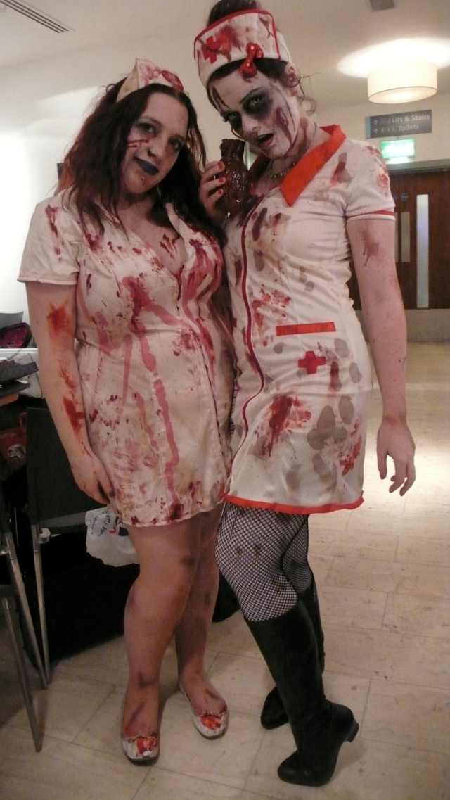Zombie nurses at alice cooper's night of fear london 2012