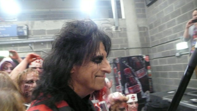Alice Cooper backstage at his Night of Fear Wembley 2012