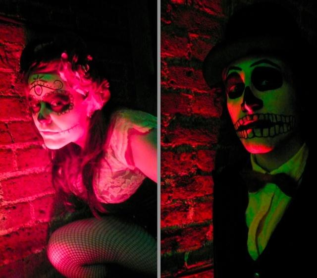 voodoo couple day of the dead halloween spooky lighting