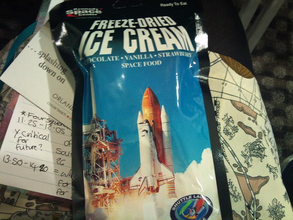 Space Ice Cream Kennedy Space Center