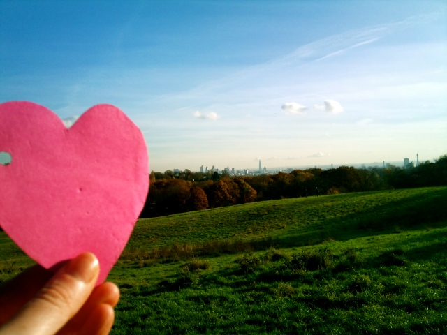 Pink Heart at Hampstead Heath