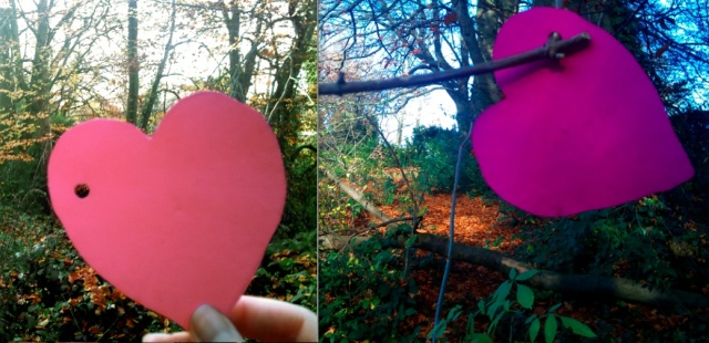 hearts in hamstead heath woodland
