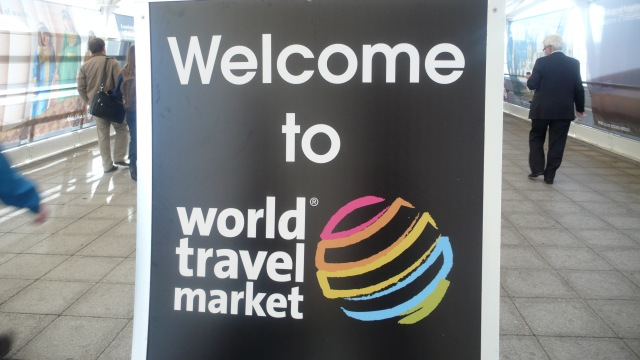 Welcome to World Travel Market Sign