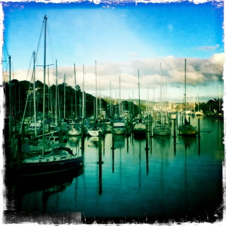 The Boats at Whangarei Sunset Hipstamatic