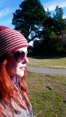 New Zealand Gohemian TravellersSide Profile Girl Red Hair Sunglasses