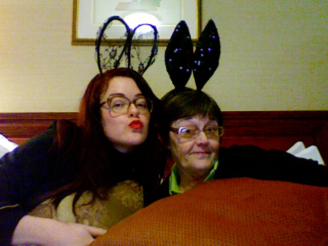 Me and My mom are ready for blogcademy