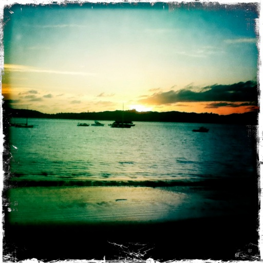 sunset in paihia hipstamatic
