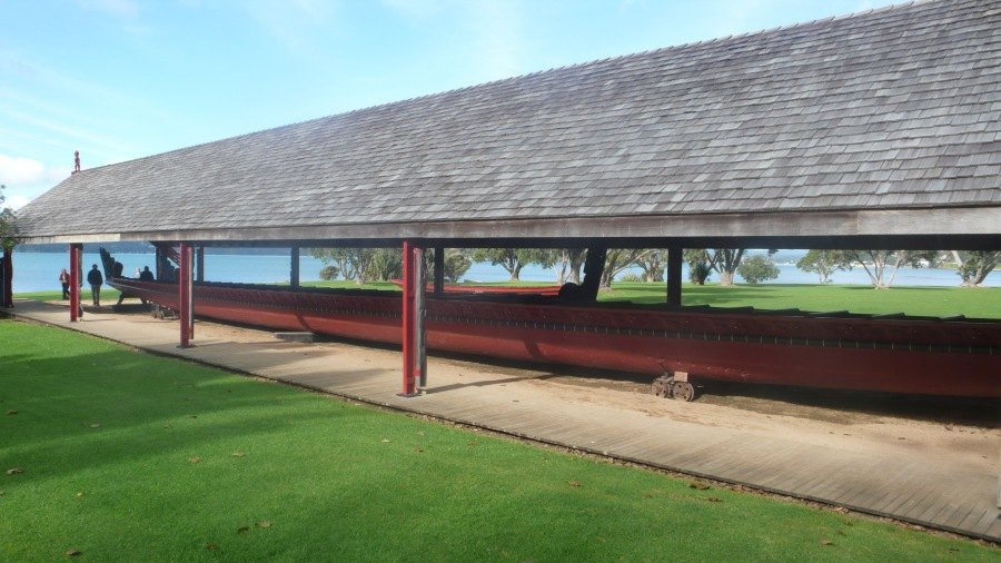 Waitangi Maori War Canoe