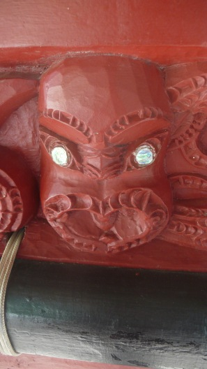 Carving On Maori Boat