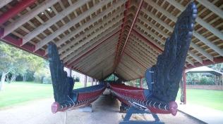 Interior of boathouse Waitangi