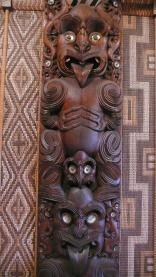 Maori CaCarvings Interior Meeting House