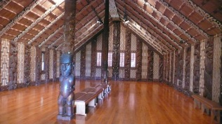 Beautiful Interior Maori Meeting House