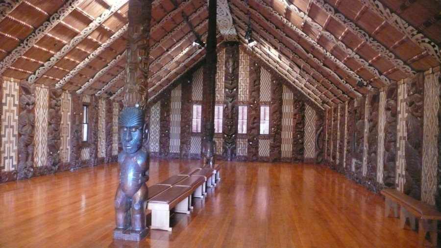 Beautiful Interior Maori Meeting House