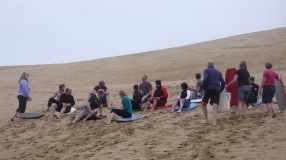 Sandboarding 90 Mile Beach NZ
